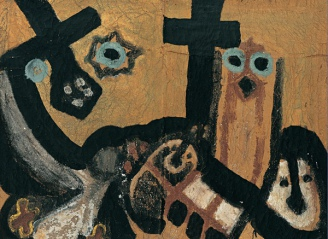 Composition with Crosses, 1975