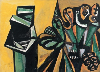 Composition in Green and Yellow, 1984