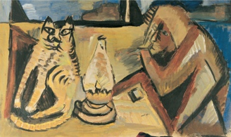 Man, Cat and Lamp, 1988