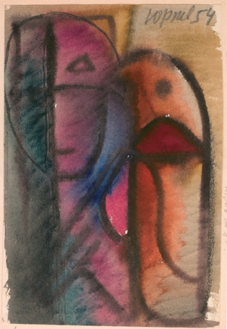 Woman With Bird, 1954